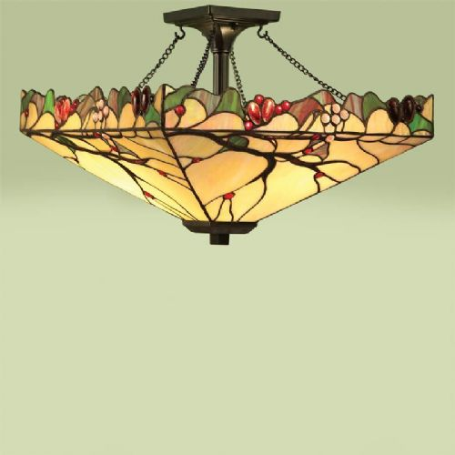Arbois Semi Flush Pendant (Tiffany Studio, Flush Fitting) (Tiffany style) TF63908-17